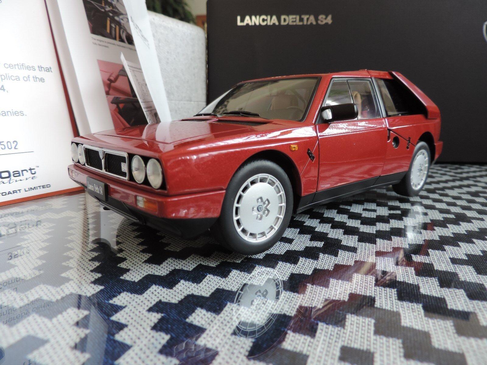 LANCIA DELTA S4 1985 AUTOART SIGNATURE 1 18 rallye rouge