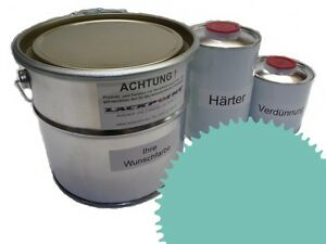 3-Litres-Set-2K-Revetement-de-sol-RAL-6034-Turquoise-Brillant-Peinture-Atelier