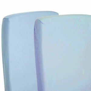 2x-Fitted-Sheets-Compatible-With-Snuzpod-Bedside-Crib-100-Cotton-Blue