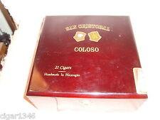 SAN CRISTOBAL COLOSO WOOD CIGAR BOX