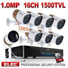 ELEC 16 Channel 960H DVR 1500TVL Outdoor CCTV Home Security Camera System 1TB