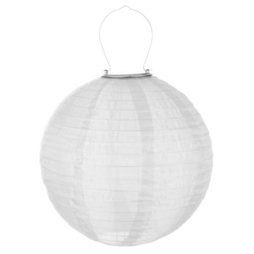 12in Waterproof LED Solar Chinese Lantern Wedding Party Hanging Lamp Light Decor