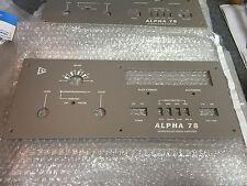 Alpha 78 ETO Amplifier Reproduction Front Panel Ham Radio