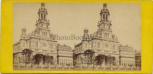 Chiesa Da La Sainte-Trinité Parigi Foto Stereo Vintage Albumina Ca 1875