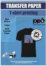 Ppd Inkjet Premium Iron On Dark T Shirt Transfers Paper Ltr 85x11 Pack Of 20