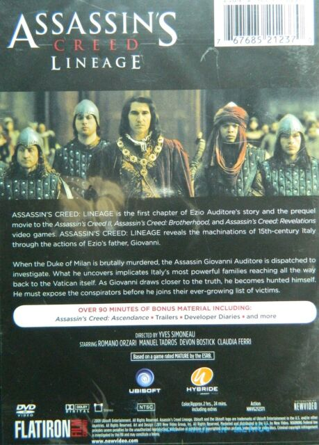 Assassin S Creed Lineage 2009 Prequel To Game 90 Minutes Of