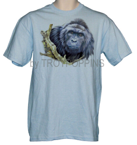 1-GORILLA APE ZOO ANIMAL WILD AFRICAN SAFARI VACATION TEE-SHIRT GRAPHIC PRINTED