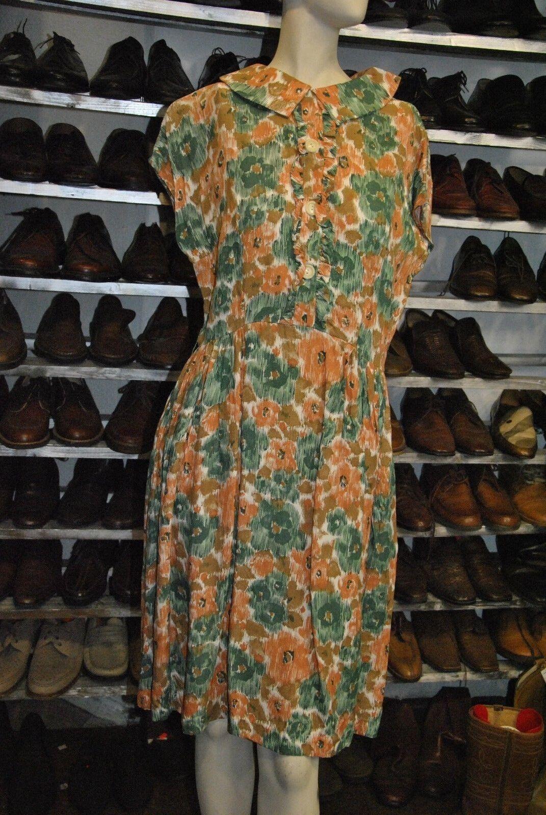 Antik 30er Blümchenkleid Kleid TRUE VINTAGE Damenkleid 30s dress flower antique