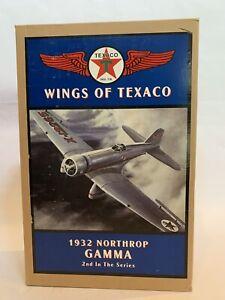 Ertl Wings of Texaco #2 1932 Northrop Gamma Die Cast Coin Bank NIB