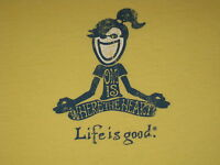 LIFE IS GOOD WOMENS S/S YOGA T- SHIRT SIZE M