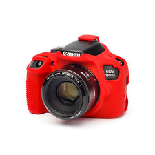 easyCover Pro Silicone Skin Camera Armor Case to fit Canon EOS 1300D DSLR Red