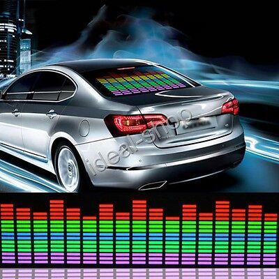45x11cm Car Sticker Music Rhythm LED Flash Light Lamp Sound Activated Equalizer