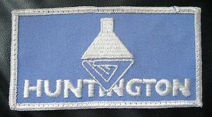 HUNTINGTON-EMBROIDERED-SEW-ON-PATCH-LOGO-ADVERTISING-UNIFORM-4-3-4-034-x-2-1-2-034