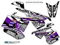 2005 2006 2007 Polaris Fusion Graphics Kit Deco Wrap Decor 900 600 Purple