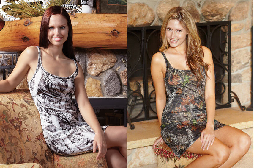 Mossy Oak or Snow-Camo Tank Nightgown-Sleepwear or ( Use as a Shirt Dress).