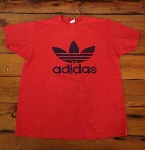 estilo clásico de 2019 renombre mundial Boutique en ligne Vintage Adidas 50/50 Trefoil Run DMC Era Design Red Black T-Shirt ...