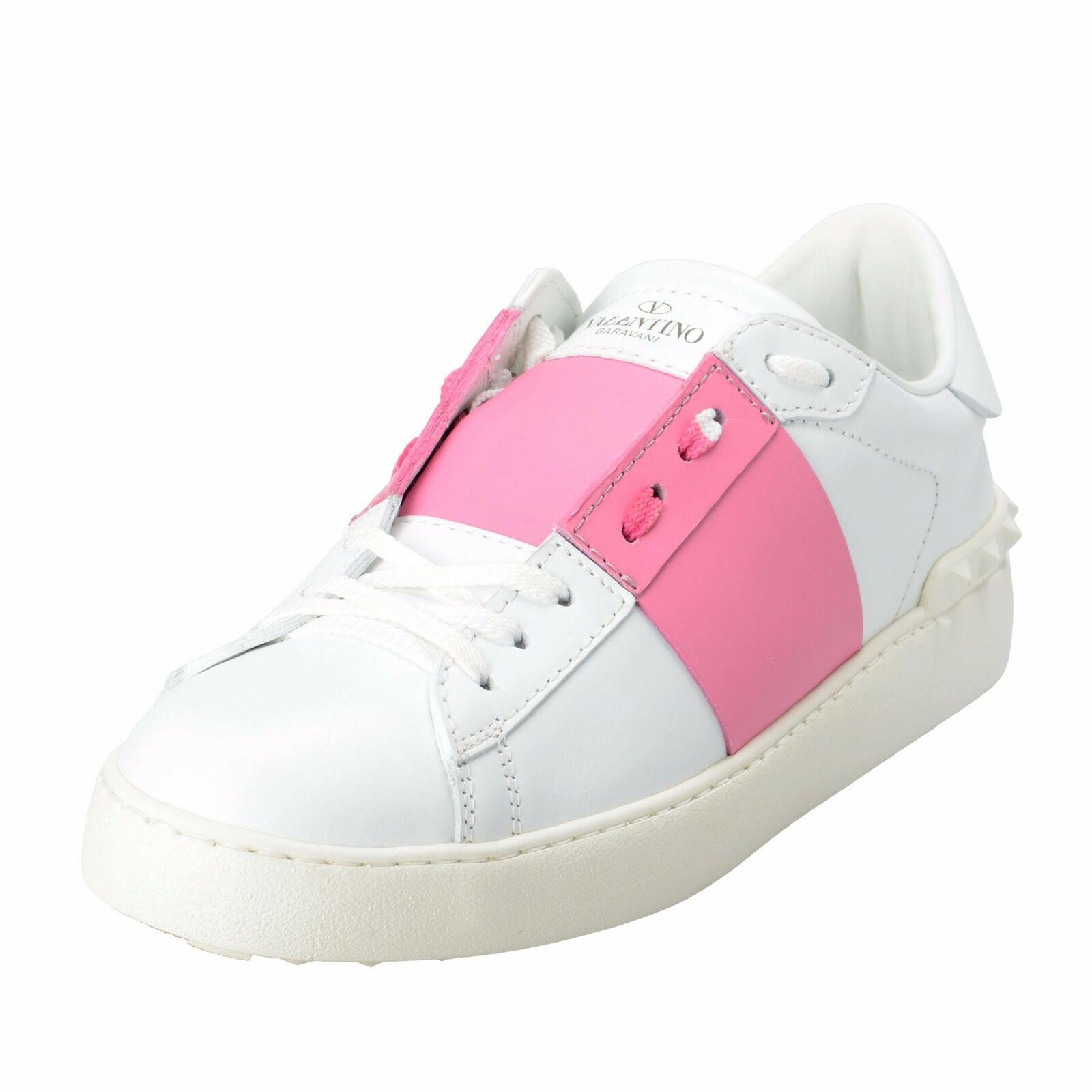 Valentino Garavani Women's Rockstud Two Tones Open Fashion Sneakers shoes