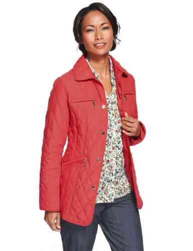 M/&S CLASSIC  Zipped Pockets Quilted Red Jacket with Stormwear