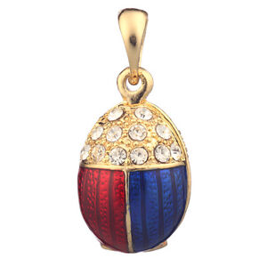 Faberge egg pendant charm bug with crystals 24 cm red blue image is loading faberge egg pendant charm bug with crystals 2 aloadofball Choice Image