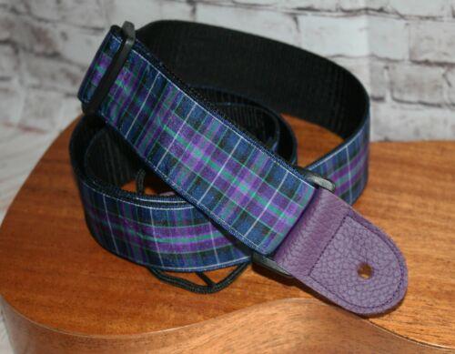 """Purple Tartan last ones Ukulele 1.5/"""" Instrument Strap"""