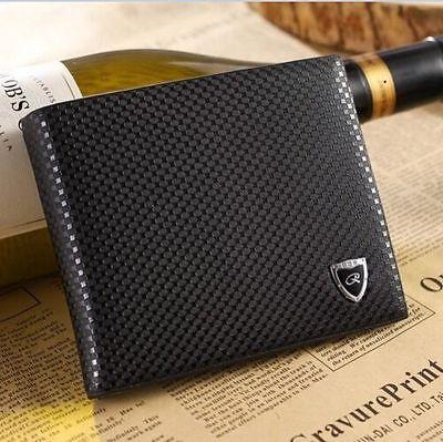 Bifold Leather Wallet Men Credit Card Holder Brand Purse Money Clip Wallets