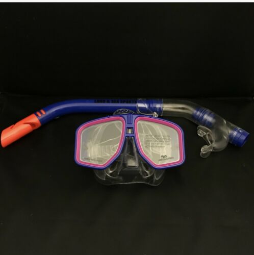 **SUPER SPECIAL** Land /& Sea Atoll Mask and Snorkel set Blue//Pink