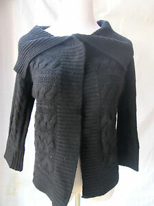 Neiman-Marcus-Cashmere-Collection-Cardigan-Sweater-Black-Small