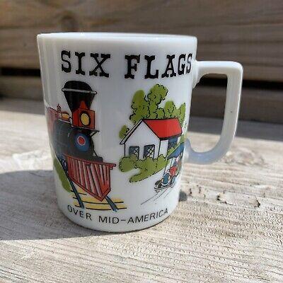 The Flume Six Flags amusement park ceramic mug vintage Texas