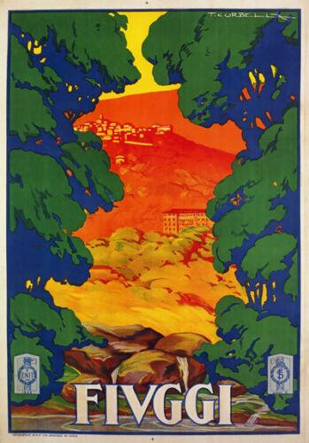 TV83 Vintage 1928 FIUGGI Lazio Italian Italy Tourism Travel Poster Re-Print A4