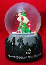 "Jack Skellington Santa Snowglobe NIGHTMARE BEFORE CHRISTMAS 6"" Musical Gift"