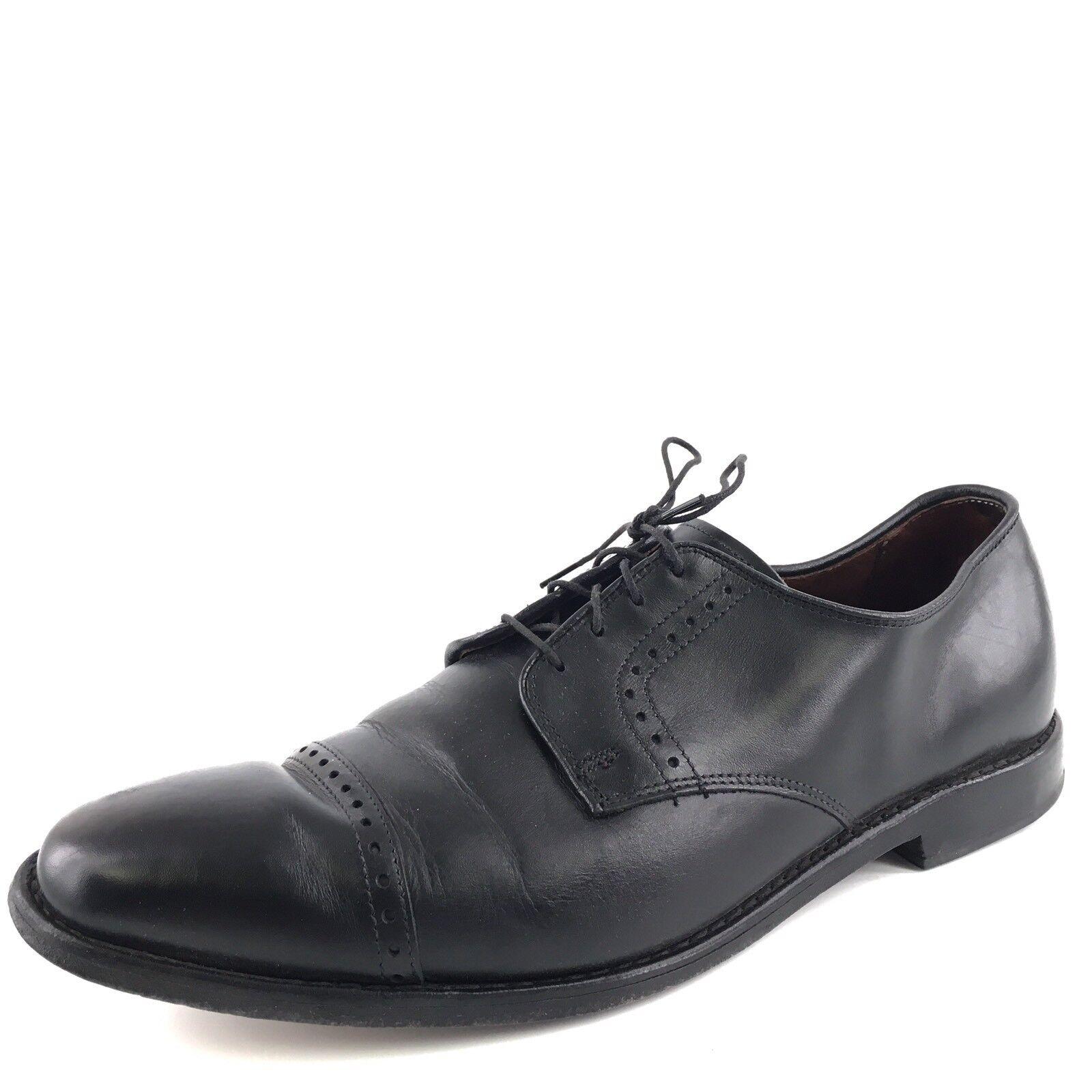 Allen Edmonds Clifton Black Leather Captoe Oxfords shoes Men's Size 11.5 M