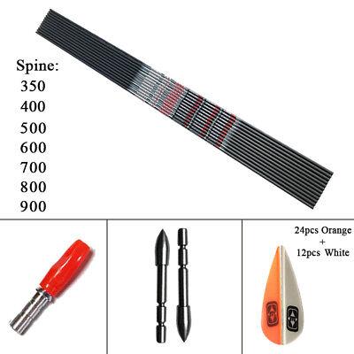 Bogenschießen Sp350-900 Id4.2mm Carbon Arrows Pfeile Recurvebogen 12x Pfeile & Komponenten Bogenschießen