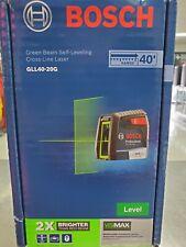 Bosch Gll40 20g Green Beam Self Leveling Cross Line Laser