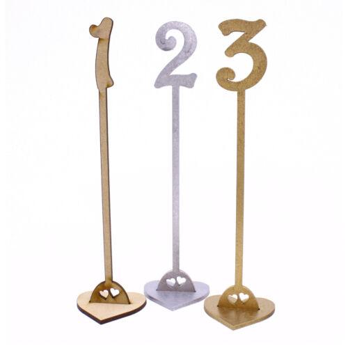 Número De Mesa De Madera Palillos Boda Fiesta Oro Plata Natural 20 cm Harrington