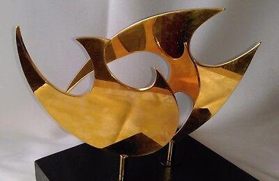 Ancienne Sculpture De Forme Libre En Bronze DorÉ Artiste à Identifier ?
