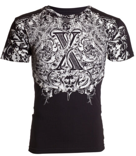 Xtreme couture by Affliction T-shirt homme automne vertèbres Motard Arts Martiaux Mixtes UFC 40 $