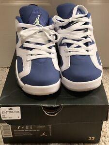 dd35864a376 Nike Air Jordan 6 VI Retro Low Seahawks White Ghost Green Blue Men's ...