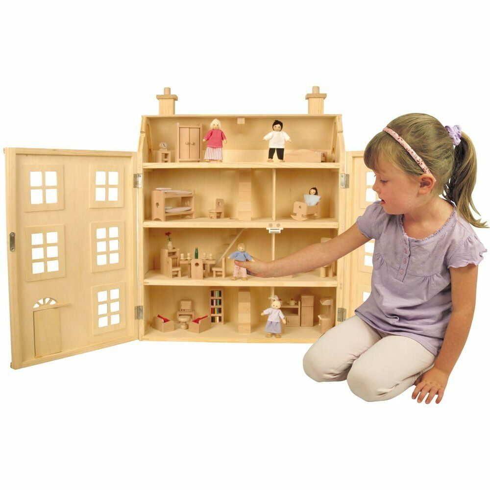 a dolls house and top girls Dolls-house bookcase, ideal for little girl's bedroom or playroom slightly marked on top, used condition.