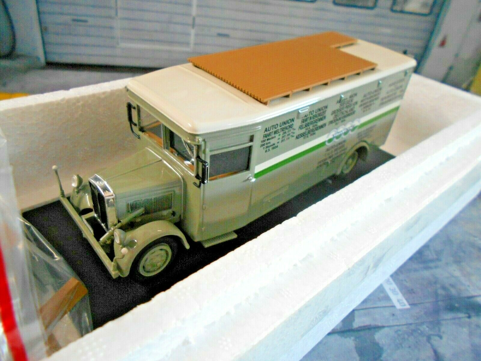 Nag Büssing renntransporter auto Unión Service audi camión camión neo 1 43