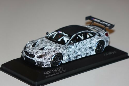 BMW M6 GT3 Presentation Spa 2015 1:43 Minichamps 437152699 neu /& OVP