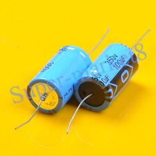 2pcs Axial Electrolytic Capacitor 100uf 100mfd 350V 85? Tube Guitar Amp 22x40mm