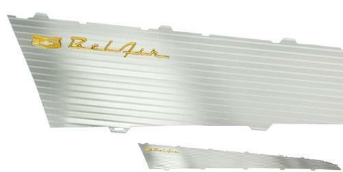 57 Chevy Bel-Air Aluminum Side Panel Insert Set 2-Door 1957, PAIR