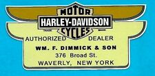 MOTORCYCLE SHOP NEW YORK Decal Sticker RETRO 1960s harley davidson ariel bsa
