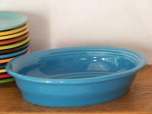 Fiesta-PEACOCK-Small-Oval-Bowl-Vegetable-Bowl-Discontinued-Color