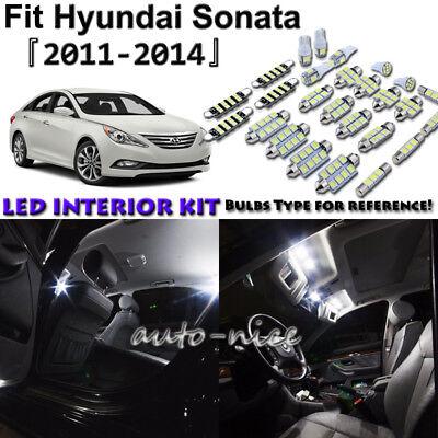 9x White LED Light Interior Kit For 2011-2014 Hyundai Sonata US Stock 1 Year Wty