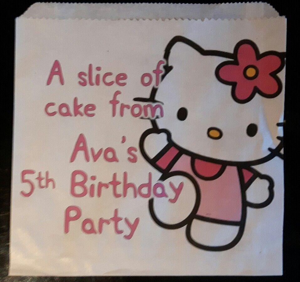 Personalizzata Hello Kitty Torta Bianche Sacchetti Festa Festa Festa f1f402
