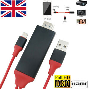 Lighting-to-HDMI-TV-Cable-2M-Game-Movie-for-iPhone-6S-7-8-X-XS-XS-Max-XR-iOS12