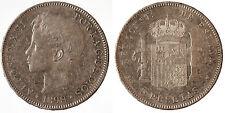 5 Pesetas plata 1898 Alfonso XIII   spain silver