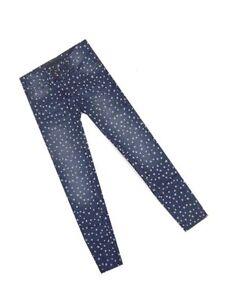 George-Indigo-Blue-Star-Stampa-Jeans-Attillati-eta-4-5-6-7-8-10-14-16-Nuova-Vendita