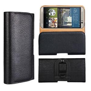 Clapet-Slim-Taille-Suspendu-Ceinture-Etui-de-Cuir-PU-Telephone-pour-HTC-Modele